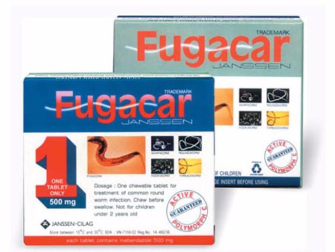 Thuốc tẩy giun Fugacar 500mg