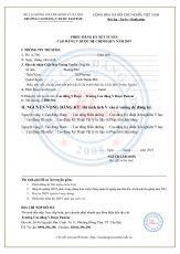 Phiếu đăng kí xét tuyển 2019